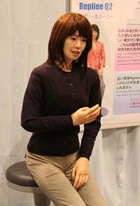 Ishiguro's robot copy of newscaster Ayako Fjuii.