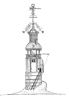 Artist's sketch of the original Eddystone Lighthouse