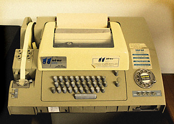 A typical telex machine.