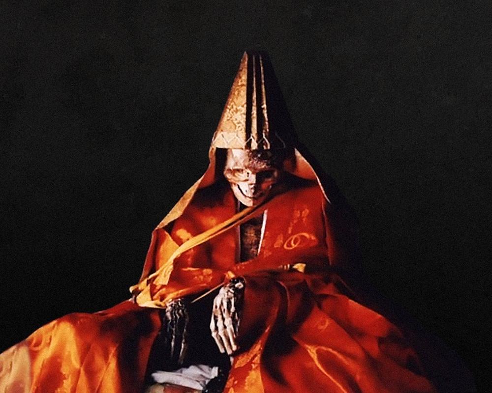 Image result for buddhist monk skeleton